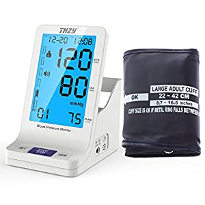 Blood Pressure Monitor with Large Arm Cuff - Automatic Digital FDA Approved Accurate Fast Large Display BP cuff