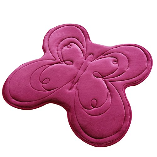 A.B Crew Butterfly Shaped Memory Foam Mat Rug for Doormat Bedroom Bathroom - Butterfly Rug Shaped