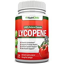 Lycopene - 10MG - 120 Softgels - Premium Quality Antioxidant - 100% Natural Tomato - Great For Prostate Health, Immune System Support, Heart Health and Eyesight Support