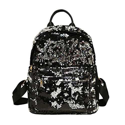 Women Fashion School Style Sequins Travel Satchel School Bag Backpack Bag