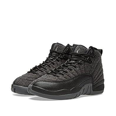 7bf956a90dc Nike Boys Jordan 12 Retro Wool BG Dark Grey Silver-Black Wool: Buy Online  at Low Prices in India - Amazon.in