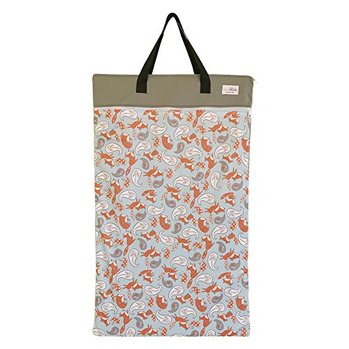 EcoAble Large Wet Dry Bag for Baby Cloth Diapers Storage or Laundry (Little Fox)