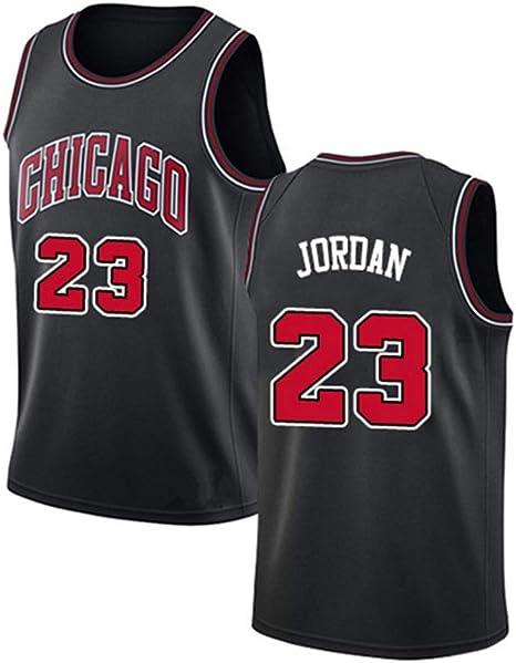 Camiseta Sin Mangas De Baloncesto para Hombre - Chicago Bulls # 23 Jordan Sports Training Wear Camisa Bordada Clásica,B,S165~170cm/55~65KG: Amazon.es: Deportes y aire libre