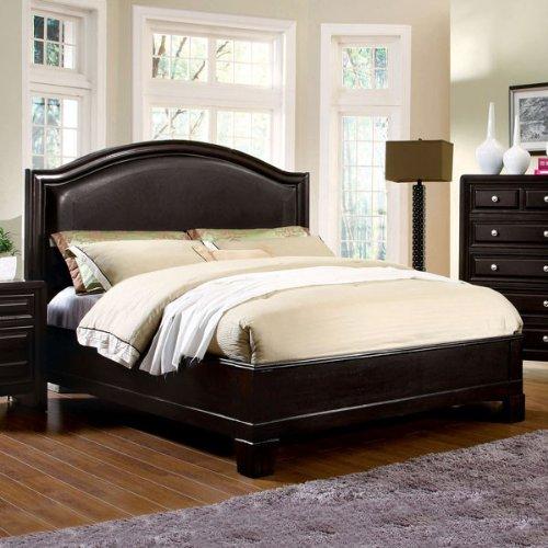 amazoncom winsor elegant style espresso finish queen size bed frame set kitchen dining