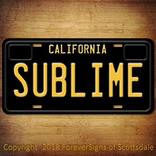 Forever Signs Of Scottsdale Sublime Punk Rock Band California Vanity Aluminum License Plate Black