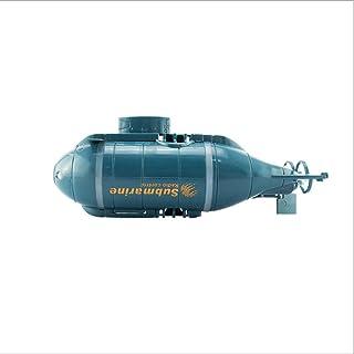 LHFJ RC Boat Remote Control Electric Race Boat 6 Canales Mini Submarino para Lago/Piscina/Estanque Negro, Azul (Color : Azul)