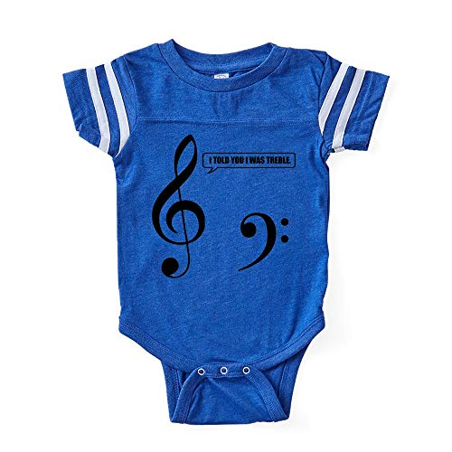CafePress Treble Clef Cute Infant Baby Football Bodysuit for $<!--$19.95-->