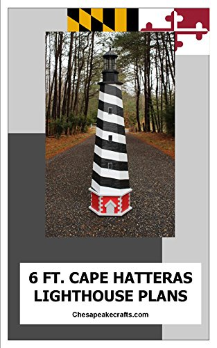 Cape Hatteras Lawn Lighthouse Plans: Illustrated Woodworking Plans with Photos
