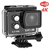SJCAM SJ7 Star Wifi Action Camera, 4K@30FPS Ambarella A12 Chipset/2'' TouchScreen/Sony Sensor/ Wireless Remote Control supported /Gyro Stabilization,Waterproof Underwater Camera (Case Included)- Black