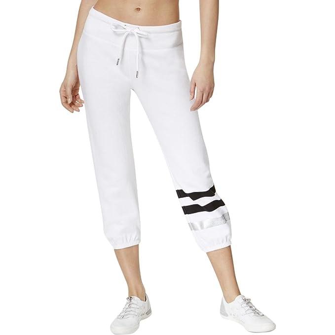 quality design f1ed5 09551 Calvin Klein Donna Pantaloni della Tuta - Bianco - L: Amazon ...