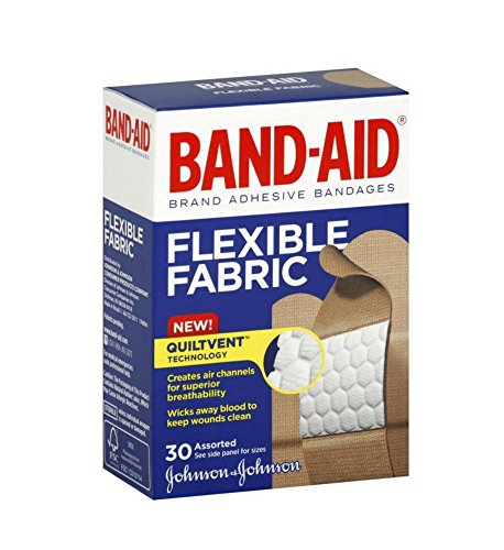 BAND-AID Bandages Flexible Fabric Assorted Sizes 30 Each by Unknown