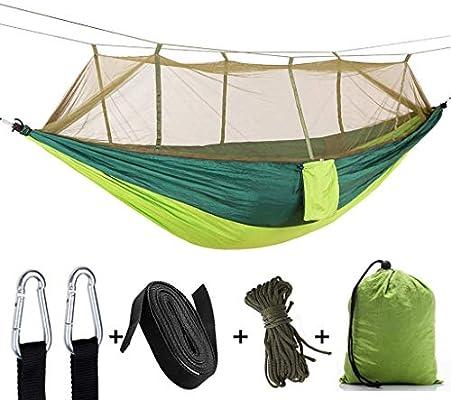 Ultraligero Al Aire Libre con Mosquitera Camping Hojas Grandes para Colgar Personas Paracaídas Doble Mosquitera Columpio para Acampar En Interiores 260 ...