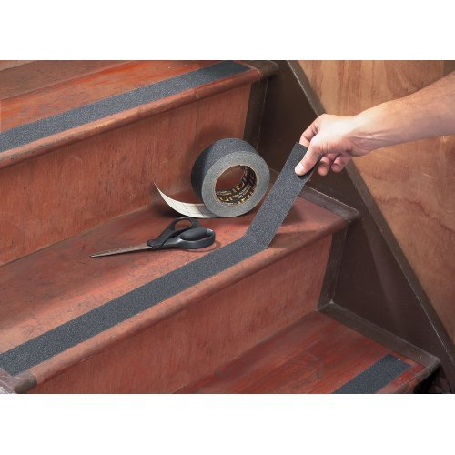 Amazon.com: Black Anti Slip Safety Grit Non Slip Tape   Highest Traction  60u0027 Feet Many Sizes (2 Inch Width): Home Improvement