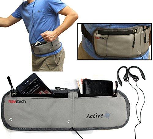 Navitech Grey Smartphone Running / Jogging Water Resistan...