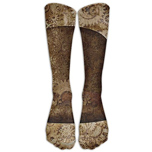 AWENGESS Steampunk Top Hat As A Science Womens Pattern Over The Knee High Socks Long Socks