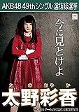 【太野彩香 NGT48 チームNⅢ】 AKB48 願いごとの持ち腐れ 劇場盤 特典 49thシングル 選抜総選挙 ポスター風 生写真