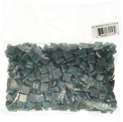 Mosaic Mercantile Mini Metallic Glass Tile, Meadow Gold, 1-Pound (Tiles Mini Mosaic Metallic)