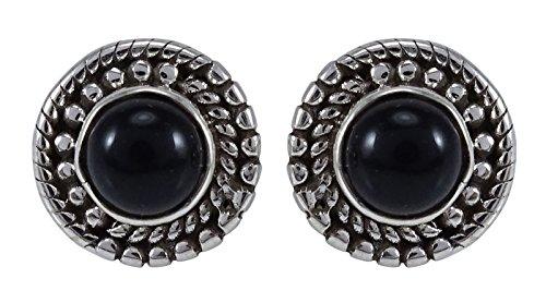 Banithani 925 Sterling Silver Stud Earring Set Fashion Jewelry For Her - Malachite Onyx Earrings