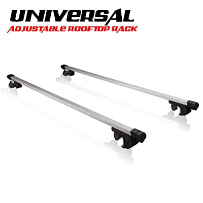 """SANHIMA Universal Roof Rack Crossbars - Adjustable Roof Bars Fit Most SUVs and Cars (51"""" Extends to 62"""") with Locks Anti-theft. 150 lb. Capacity: Automotive"""