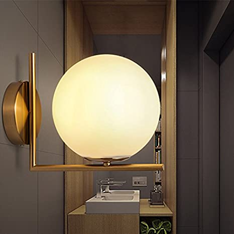 Homili New Modern Style LED Globe Glass Wall Sconce Light Antique ...
