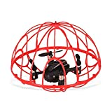LQUYY Children's Mini Four-Axis Remote Control Cage Drone, Tumbler, One-Button Return