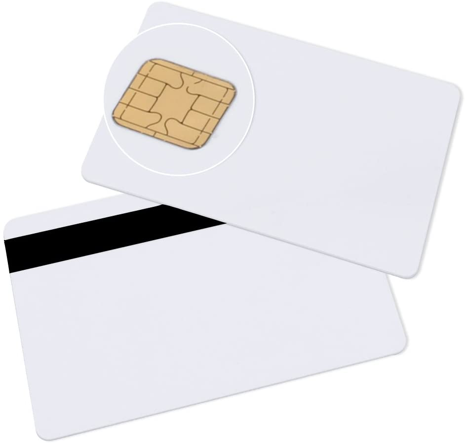 10 Pack smartelf j2a040 Java Smart Card Chipkarte wei/ß PVC Karte Plastikkarten Blankokarten mit Magnetkarten JCOP 21 40K 7 mm