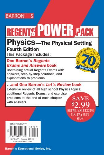 Physics Power Pack (Regents Power Packs) [Paperback] [2009] (Author) Miriam A. Lazar M.S.