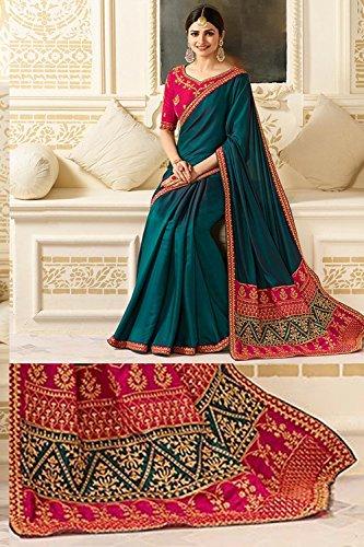 Tradizionale Da Progettista Facioun Multicolore Sarees Donne Sari Partywear Etnica Indiani 4 Y4RYrx0w