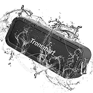 Portable Bluetooth Speakers, Tronsmart Force 40W IPX7 Waterproof Bluetooth 5.0 Wireless Speakers with Tri-Bass Effects, TWS, 15-Hour Playtime, Dual-Driver with Built-in Mic, NFC