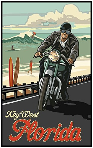 Key West Florida Travel Art Print Poster by Paul A. Lanquist (24