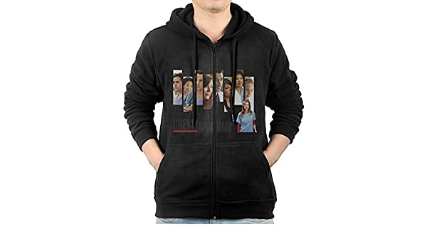 61105de52e4 Men's Grey's Anatomy Full-Zip Hoodie Sweatshirt S at Amazon Men's Clothing  store: