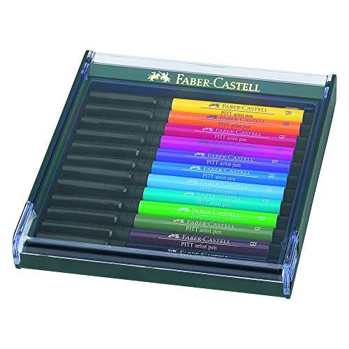 Faber-Castell 267421 India Ink Pitt Artist Pen B 12x - Ink Artists