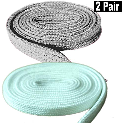 2 Pair Super Quality Flat Shoe Laces 5/16