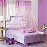 HOUSWEETY Purple New Round Lace Curtain Dome Bed - Best Reviews Guide