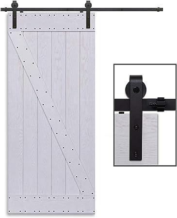 304CM//10FT Quincaillerie Kit de Rail Roulettes pour Porte Coulissante Hardware pour une Porte Suspendue en Bois Sliding Barn Door Hardware