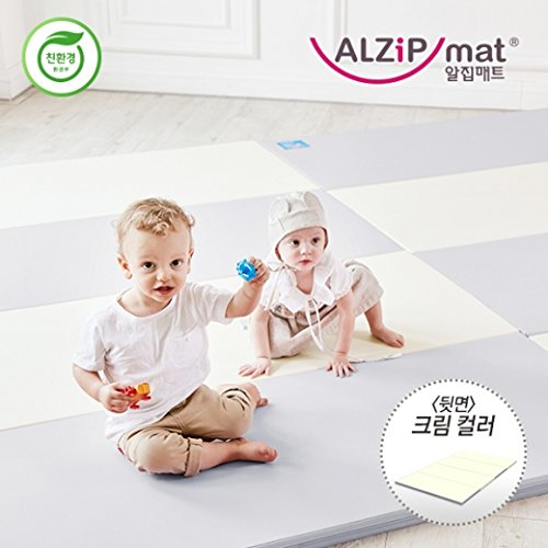 [Alzip Mat] Baby Playmat - ECO Color Folder Duo (Non-Toxic, Non-Slip, Waterproof) (Eco Duo Gray, XG) by Alzipmat