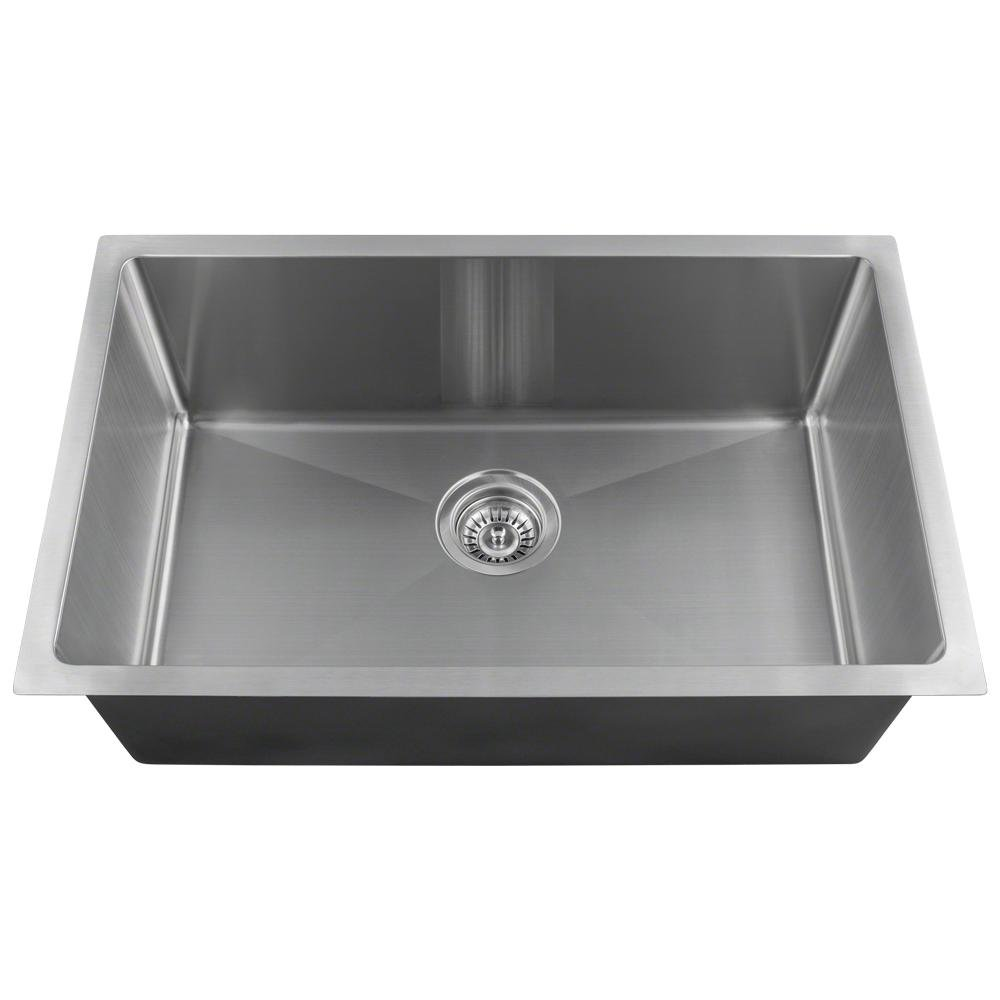 2920S Single Bowl 3 4 Radius Stainless Steel Sink, 18-Gauge, Sink Only
