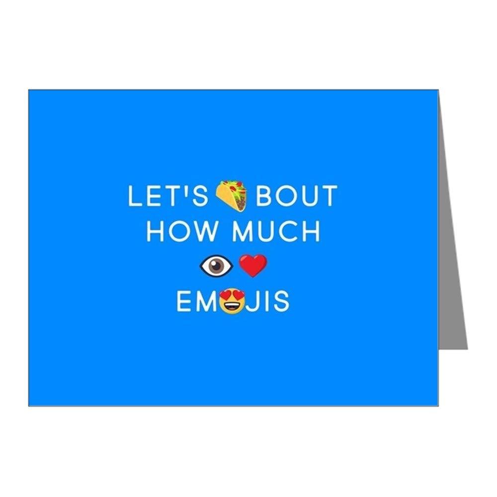 CafePress Let's Taco I Love Emojis Blank Note Cards (Pack of 20) Matte