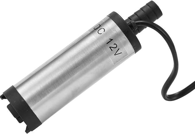 60 W KKmoon Bomba sumergible DC 12 V//24 V bombeo de aceite di/ésel agua 51 mm aceite de agua di/ésel combustible bomba de transferencia de combustible con pantalla de llenado