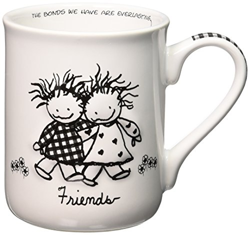 - Enesco Children of the Inner Light Friends Stoneware Gift Mug, 16 oz.
