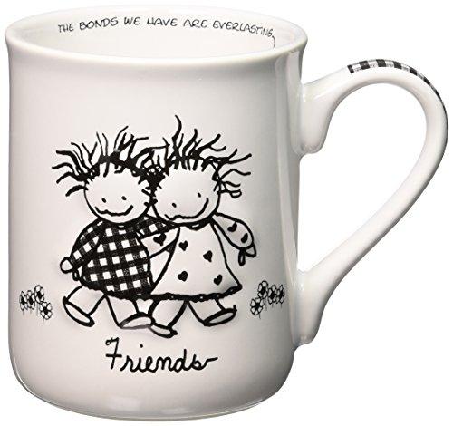 Department 56 62008 Enesco Children of the Inner Light Friends Stoneware Gift Mug, 16 oz, 4.25