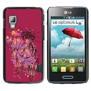 Be Good Phone Accessory // Dura Cáscara cubierta Protectora Caso Carcasa Funda de Protección para LG Optimus L5 II Dual E455 E460 // The Cute Sexy Geisha Woman