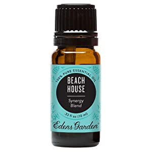 Edens Garden Beach House, Essential Oil Synergy Blend, 100% Pure Therapeutic Grade, 10 ml