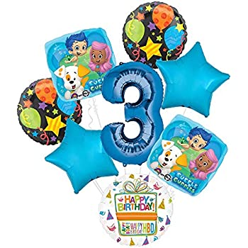 Boy 3 Today Happy Birthday Age 3rd Party Balloons Banners Big Badges