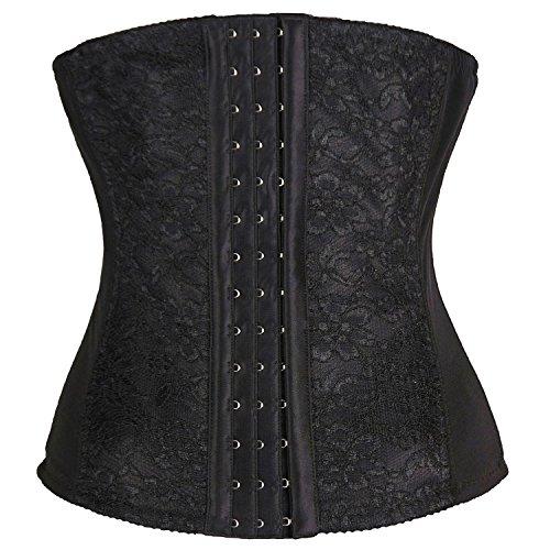 The Cane Women's Slimming Body Workout Waist Training Cincher Shapewear Corset Color Black Size L