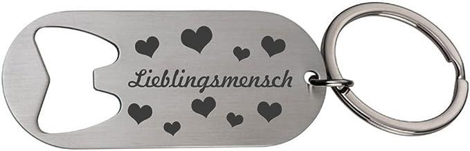 Schlüsselanhänger Flaschenöffner Mit Gravur Lieblingsmensch Und Herzen Aus Metall Baumarkt