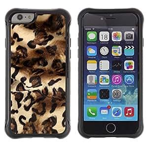 iKiki Tech / Estuche rígido - Leopard Fashion Fur Design Dress Pattern - Apple iPhone 6 PLUS 5.5