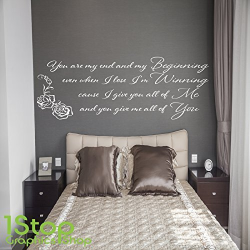 1Stop Graphics Shop   JOHN LEGEND BEGINNING WALL STICKER QUOTE   BEDROOM  HOME WALL ART DECAL X243   Colour: Black   Size: Large: Amazon.co.uk: DIY U0026  Tools