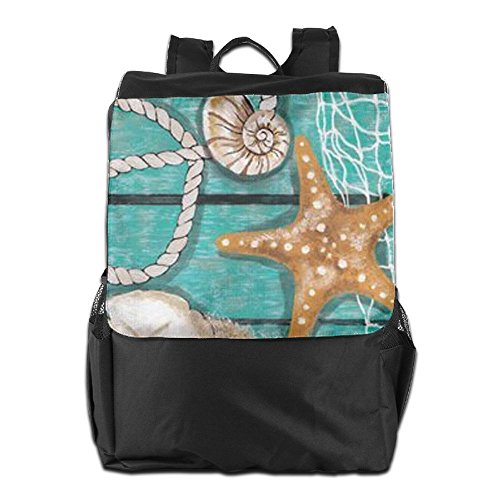 HSVCUY Personalized Outdoors Backpack,Travel/Camping/School-Beach Starfish Adjustable Shoulder Strap Storage Dayback For Women And Men