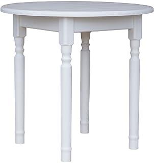 runder tisch weiß vintage